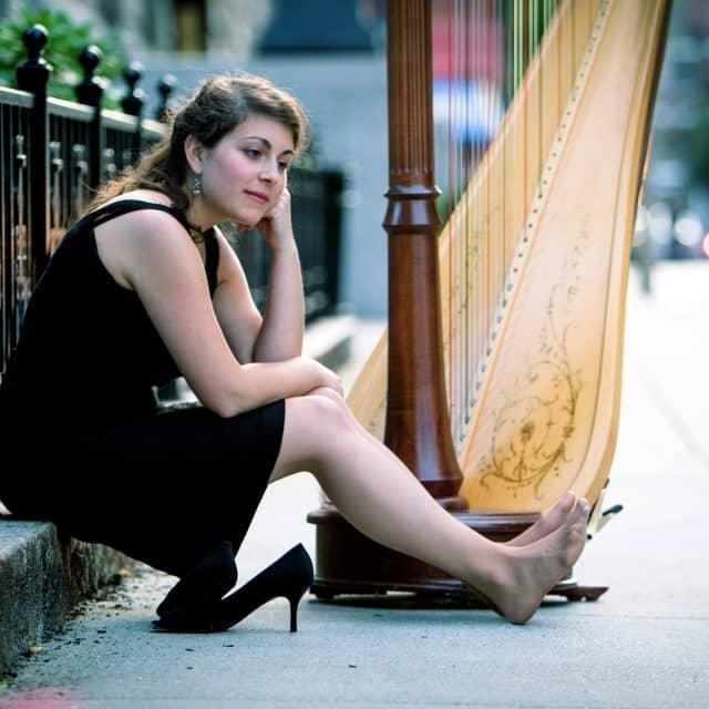 Harp Player Boston