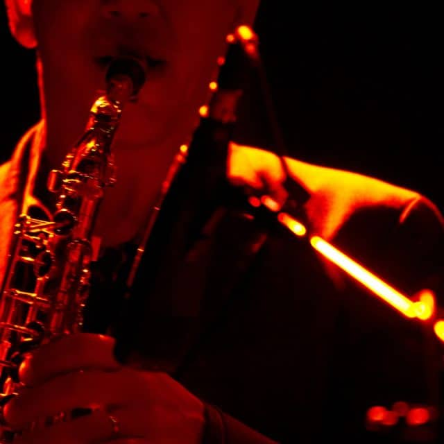 Saxophonist wows the audience with Night Shift Ent.