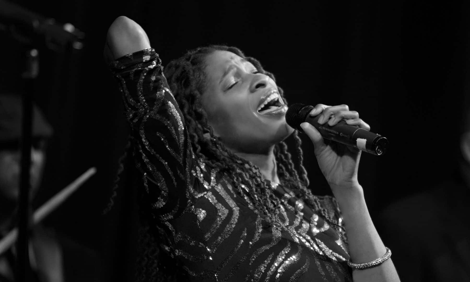 Soulful female vocalist entertains the audience