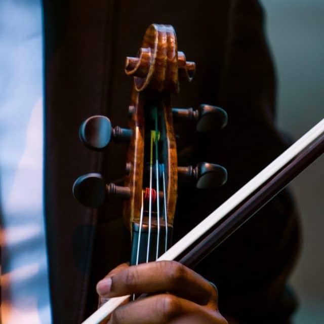 Closeup of violin