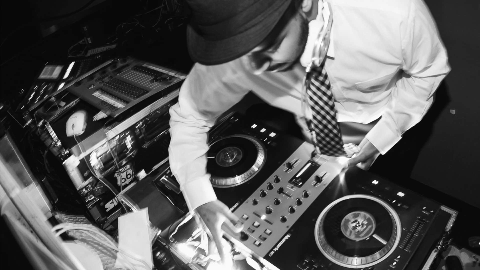 Boston's best DJ spinning at a private event