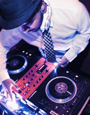 Boston's best DJ spins at a private event