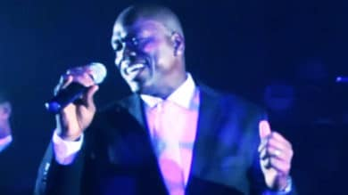 Jermaine sings with one of the best wedding bands in Maine