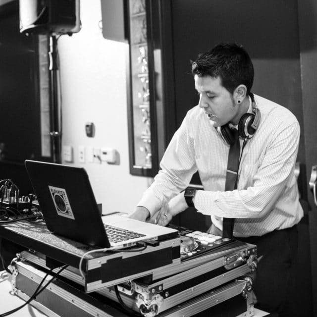 DJ performs as part of Night Shift Entertainment