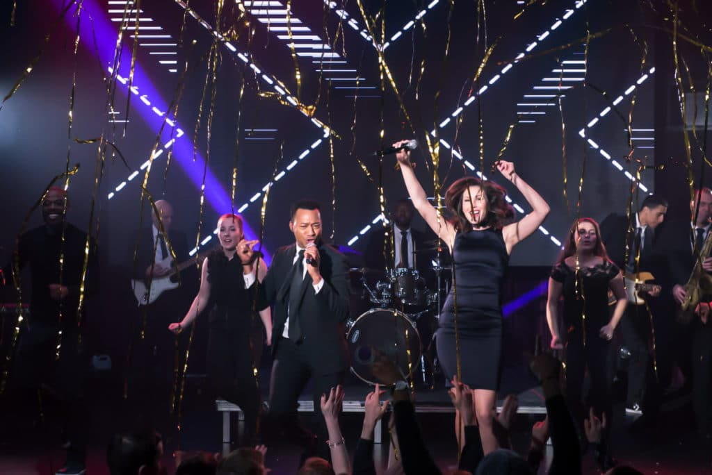 The band Soho performs for a New Years Eve Gala in Boston
