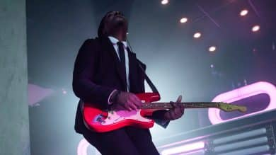 Guitarists performs with one of Boston's best wedding bands, Night Shift