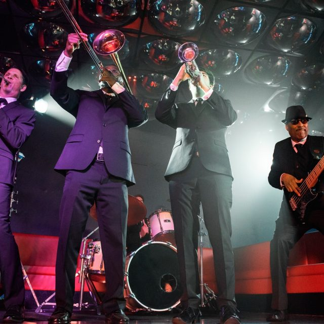 Ace horn section performs with Night Shift