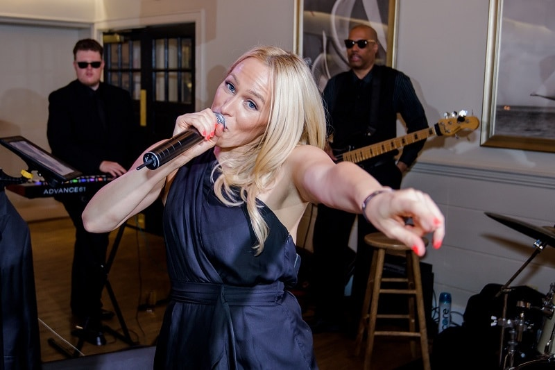 Leyna sings with soul and style with Night Shift Band in Vermont