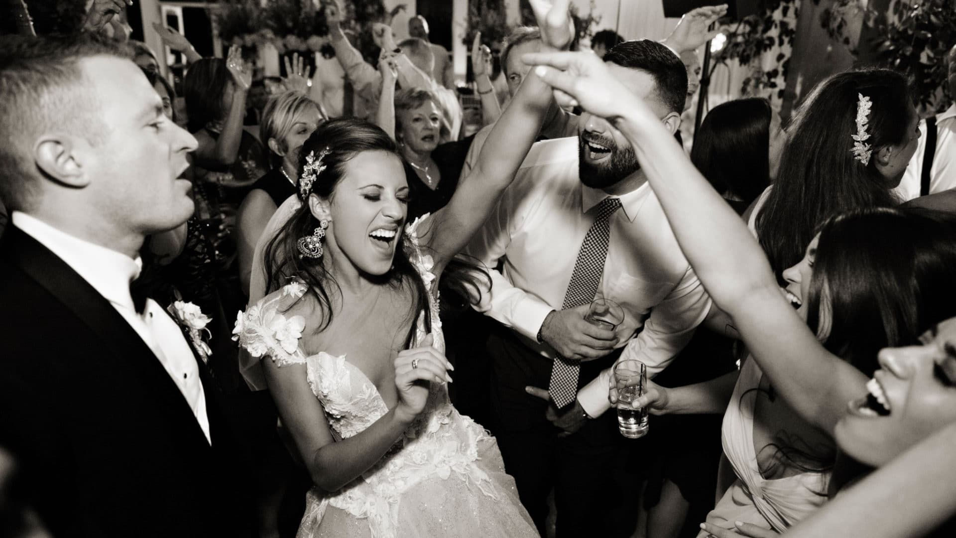 Happy couple dances the night away with Night Shift Entertainment