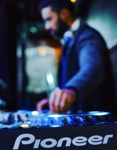 DJ spins at corporate event in New York